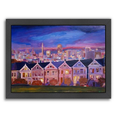 Americanflat ''San Francisco Painted Ladies'' Framed Wall Art