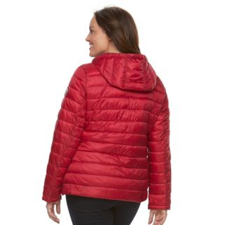 Plus Size Halitech Hooded Packable Puffer Jacket