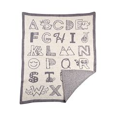 Living Textiles My First Alphabet Fuzzy Blanket by