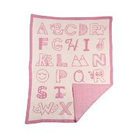 Living Textiles My First Alphabet Fuzzy Blanket