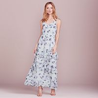 LC Lauren Conrad Dress Up Shop Collection Ruffle Maxi Dress - Women's