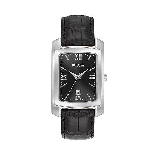 Bulova Men's Classic Leather Watch - 96B269