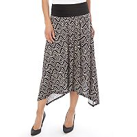 Women's Apt. 9® Print Shark-Bite Midi Skirt