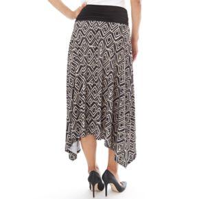 Women's Apt. 9® Print Shark-Bite Midi Skirt