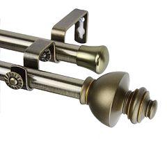 Rod Desyne Dynasty Adjustable Double Curtain Rod