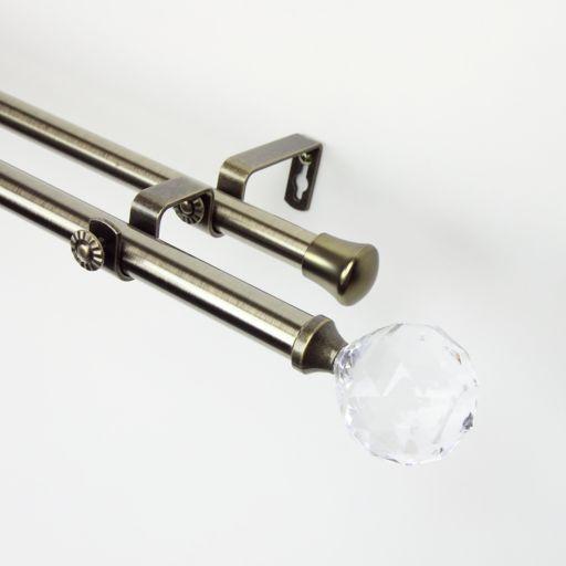 Rod Desyne Faceted Adjustable Double Curtain Rod
