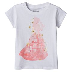 Disney's Beauty & The Beast Belle Girls 4-6x Castle Tee
