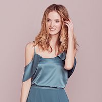 LC Lauren Conrad Dress Up Shop Collection Cold-Shoulder Top - Women's