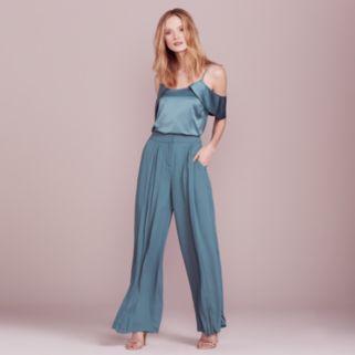 LC Lauren Conrad Dress Up Shop Collection Cold-Shoulder Top - Women's
