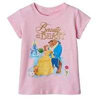 Disney's Beauty & The Beast Belle, Beast & Cogsworth Girls 4-6x Tee