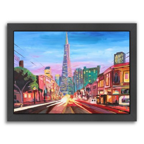 "Americanflat ""San Francisco Columbus St."" Framed Wall Art"