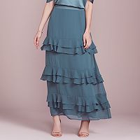 LC Lauren Conrad Dress Up Shop Collection Tiered Ruffle Maxi Skirt - Women's