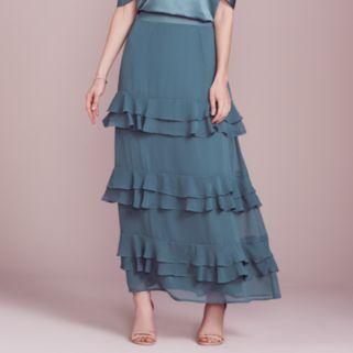 LC Lauren Conrad Dress Up Shop Collection Tiered Ruffle Maxi Skirt - Women's