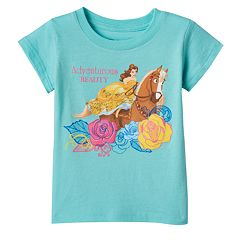 Disney's Beauty & The Beast Belle Girls 4-6x 'Adventurous Beauty' Tee