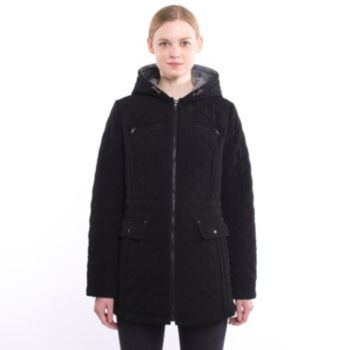 Women's Braetan Hooded Quilted Mid-Length Jacket