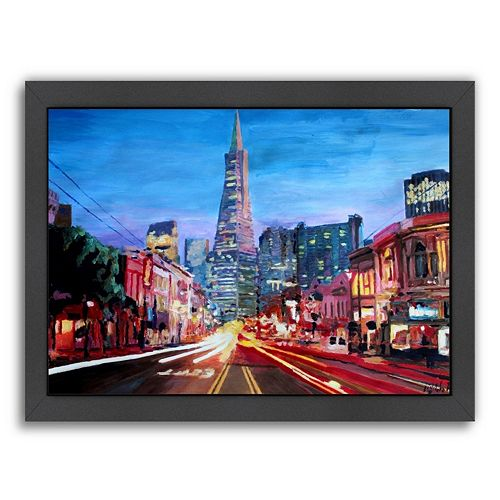 Americanflat ''San Francisco Columbus St.'' Framed Wall Art