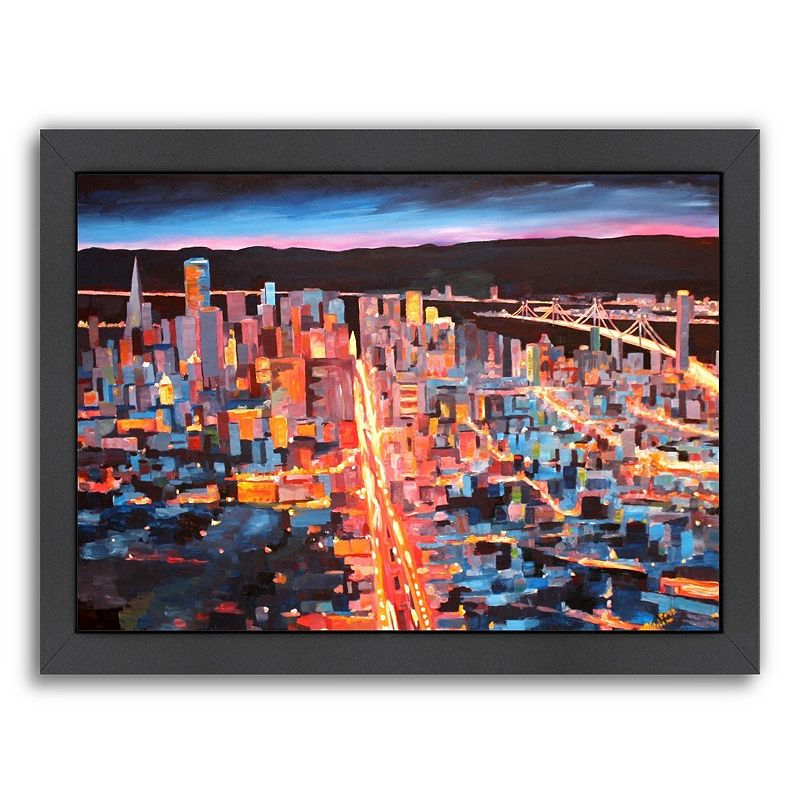 Americanflat ''San Francisco Market Street 1'' Framed Wall Art, Medium