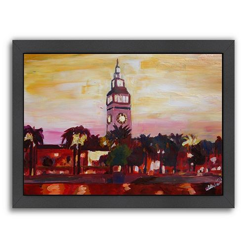 Americanflat ''San Francisco Ferry Plaza Building'' Framed Wall Art