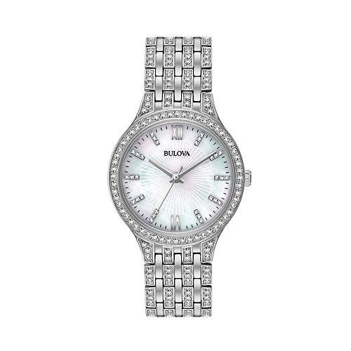 Bulova Women's Crystal Stainless Steel Watch - 96L242