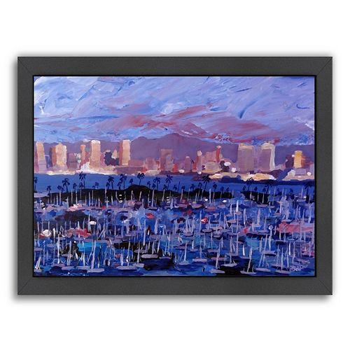 Americanflat \'\'San Diego\'\' Framed Wall Art