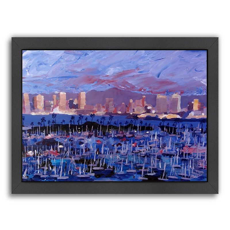 Americanflat ''San Diego'' Framed Wall Art, Medium
