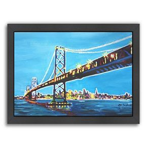 Americanflat ''San Francisco Oakland'' Framed Wall Art