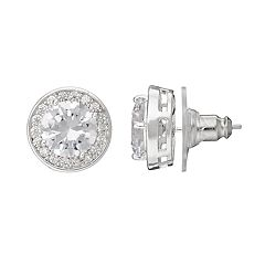 Dana Buchman Cubic Zirconia Halo Stud Earrings