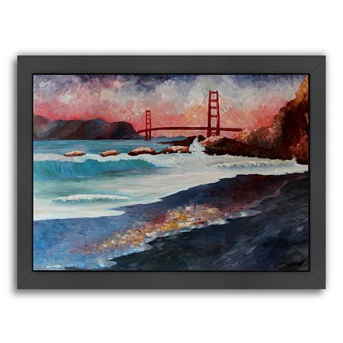 Americanflat ''San Fran Golden Gate'' Framed Wall Art