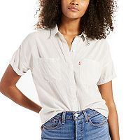 Women's Levi's Short Sleeve Button-Down Top