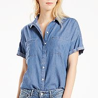 Women's Levi's Short Sleeve Button-Down Top