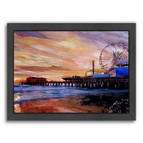 Americanflat ''Santa Monica Pier 2'' Framed Wall Art