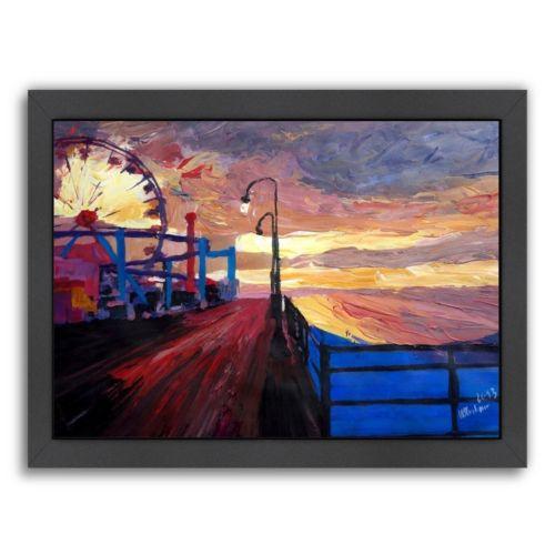"Americanflat ""Santamonicapier Dusk 2"" Framed Wall Art"