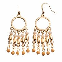 Beaded Fringe Nickel Free Drop Earrings