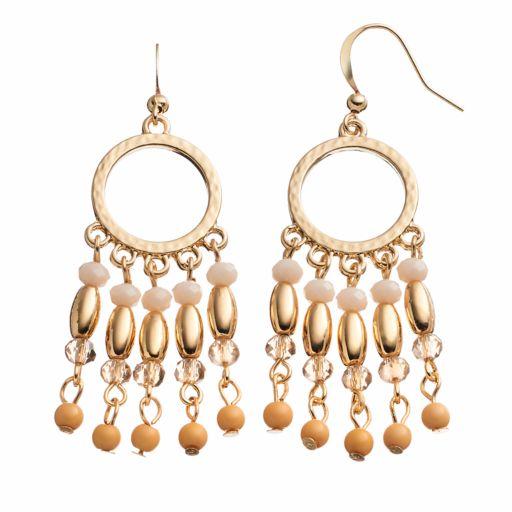 Beaded Fringe Nickel Free Drop Earrings