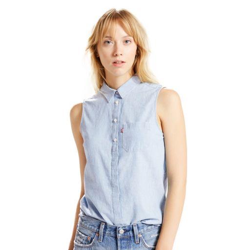 Women's Levi's Sleeveless Button-Down Top