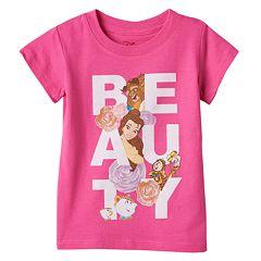 Disney's Beauty & The Beast Belle, Beast & Lumiere Girls 4-6x 'Beauty' Tee