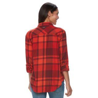 Women's Columbia Wildscape Flannel Plaid Roll-Tab Shirt