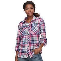 Women s Columbia Wildscape Flannel Plaid Roll-Tab Shirt e141f6b2fb
