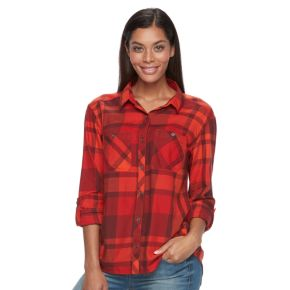 Women's Columbia Wildscape Flannel Plaid Roll-Tab Shirt