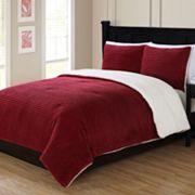 Ribbed Plush Comforter Set