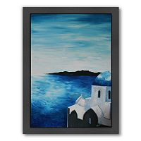 Americanflat ''Santorini I'' Framed Wall Art