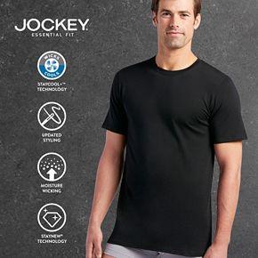 Men's Jockey 3-pk. Essential Fit Staycool+? Crewneck Tees