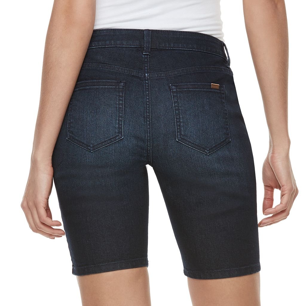 Women's Jennifer Lopez Button Fly Bermuda Jean Shorts