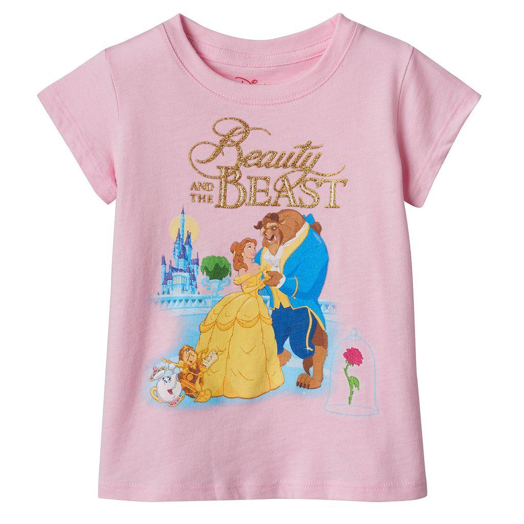 Disney's Beauty & The Beast Belle, Beast & Cogsworth Toddler Girl Tee