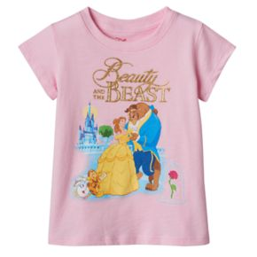 Disney's Beauty & The Beast Belle, Beast & Cogsworth Toddler Girl Tee