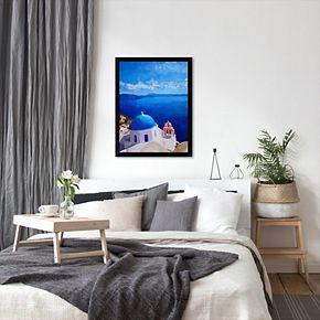 Americanflat ''Santorini III Oia 2'' Framed Wall Art