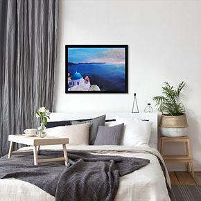 """Americanflat """"Santorini V Oia"""" Framed Wall Art"""