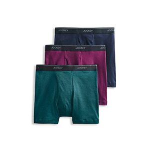 Men's Jockey 3-pack Essential Fit Staycool+? Boxer Briefs