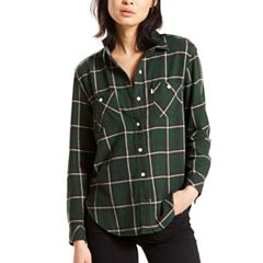 Women's Levi's Workwear Plaid Button-Down Shirt