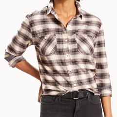 Women's Levi's Workwear Plaid Button-Down Shirt